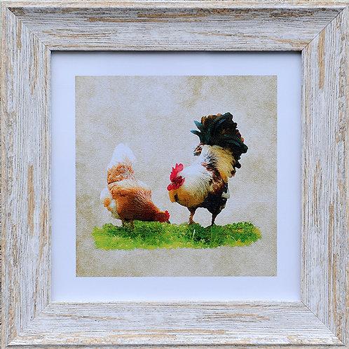 Chickens Square Frame Photo