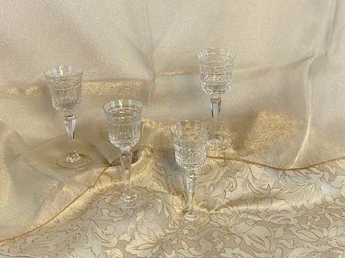 4 Mini Crystal Dessert Glasses