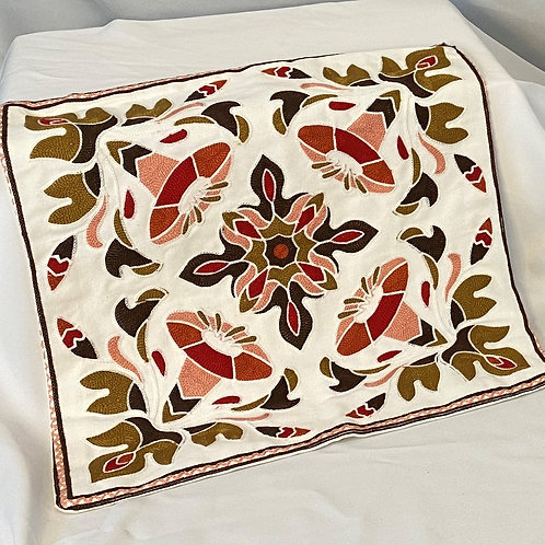 Floral Pillow Cover From Cambodia