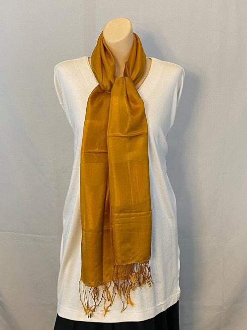 Antique Gold Silk Scarf