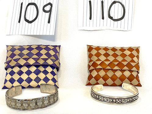 Silver Bangle Bracelet From Cambodia