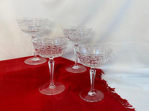 4 Crystal Dessert Glasses