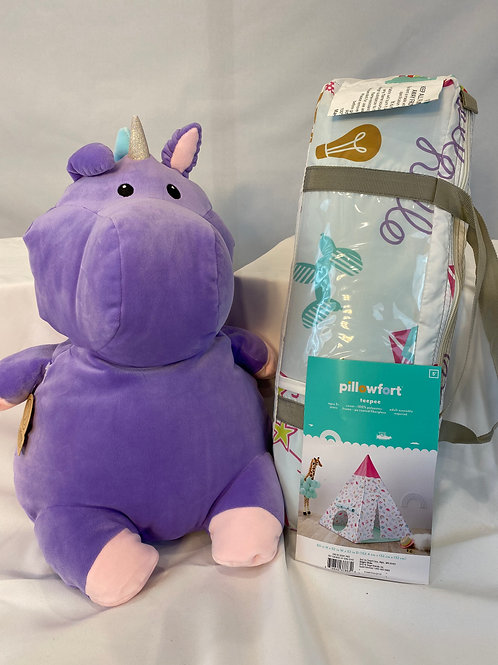 Stuffed Unicorn and Play Teepee