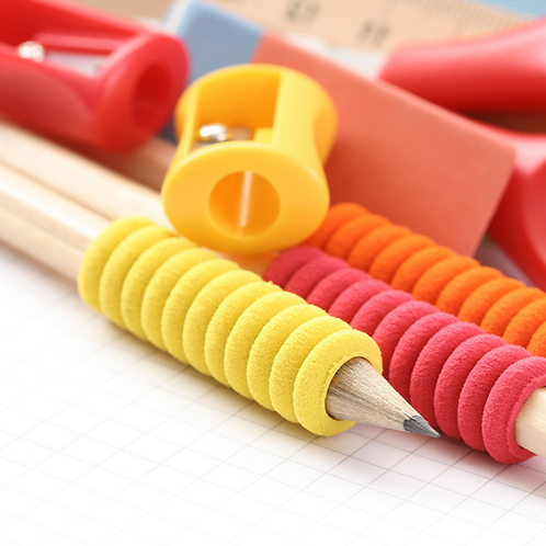 One elementary child's school supplies