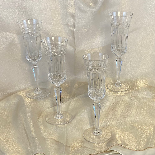 4 Crystal Parfait Glasses