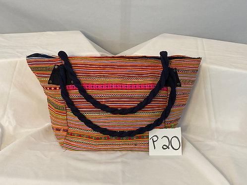 Multicolor Striped ToteBag