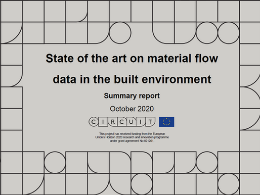 REPORT: State of the art on material flow data in the built environment