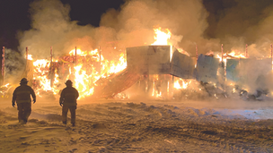 Fire destroys 2500 bales