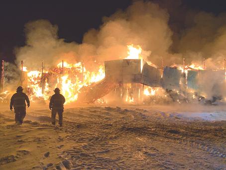 Fire destroys 2500 bales