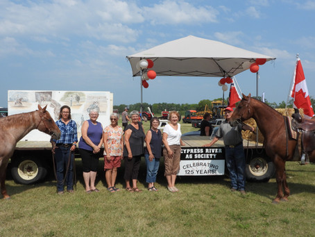 Ag society honoured with parade in Cypress River