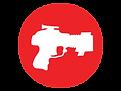 Laser tag gun icon LazerPor Fun Center Pigeon Forge