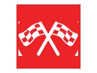 Go-kart racing flag icon LazerPort Fun Center Pigeon Forge