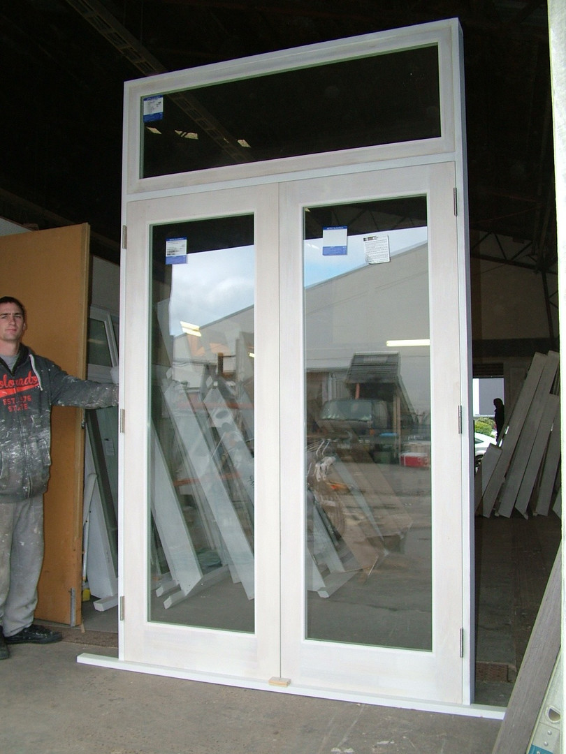 French Doors with Fanlight