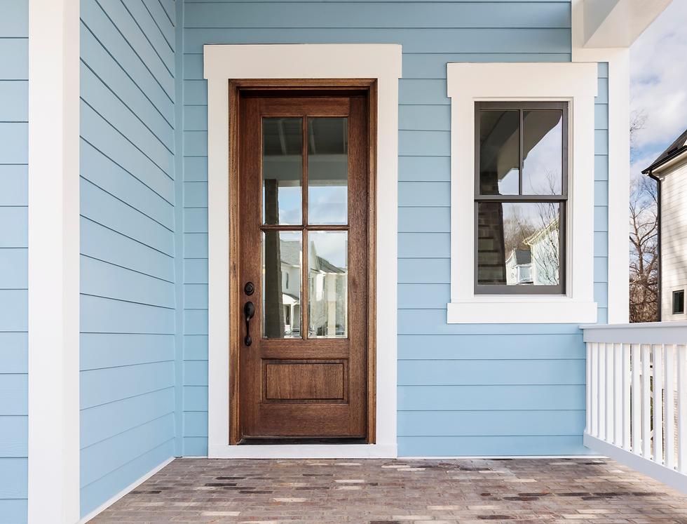 Timber wooden door double glazing