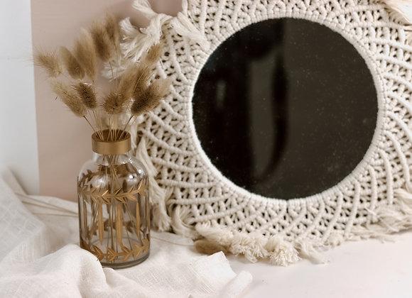 Maxi miroir en macramé