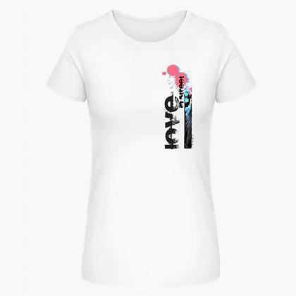 "Tee-shirt ""Love in street"" Femme- blanc"