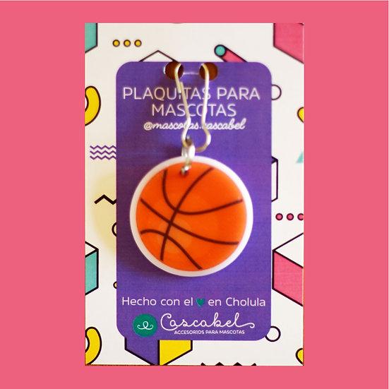 """Plaquita personalizada """"Balón Basketball"""""""