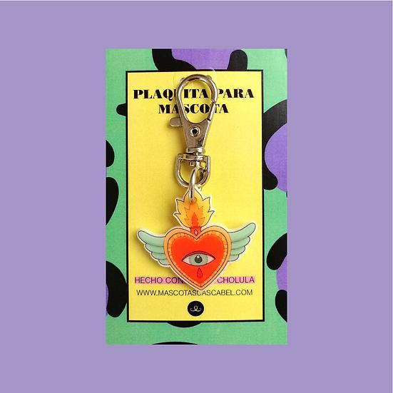 """Plaquita personalizada """"Corazón Milagros"""""""
