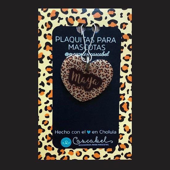 "Plaquita personalizada ""Corazón Animal Print"""