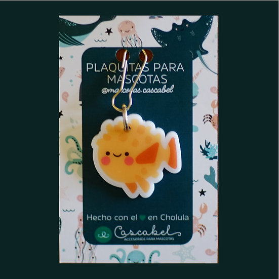 "Plaquita personalizada "" Pez Globo"""