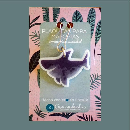 "Plaquita personalizada ""Tiburón"""