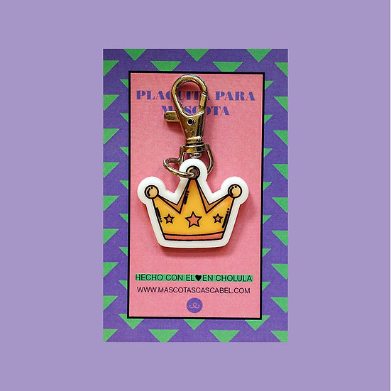 "Plaquita personalizada ""Corona"""