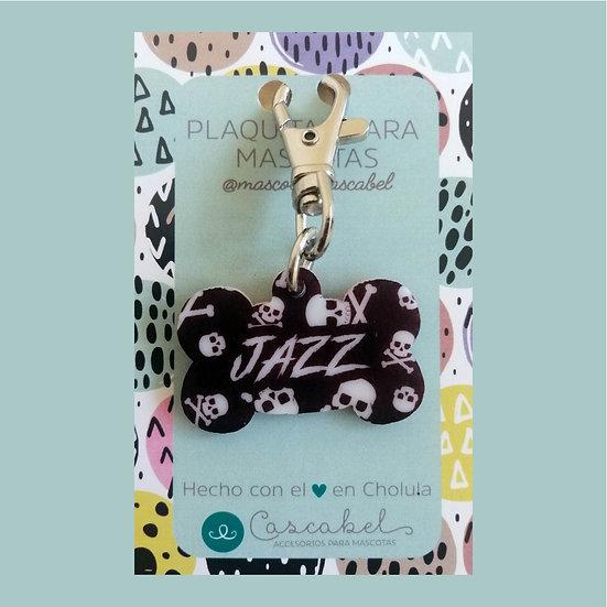 "Plaquita personalizada ""Hueso Calaveras"""