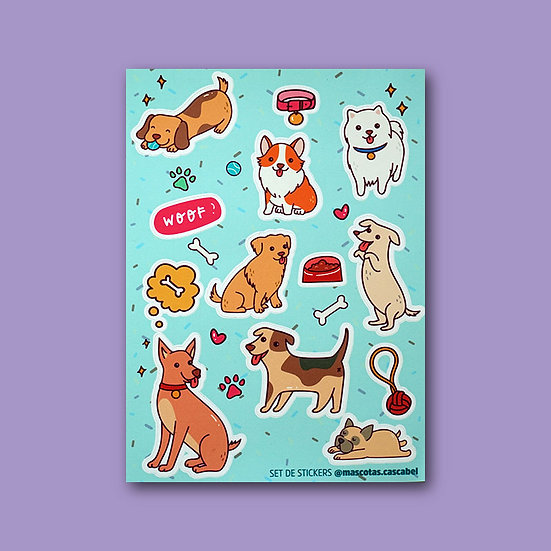 "Set de Stickers ""Perritos"""