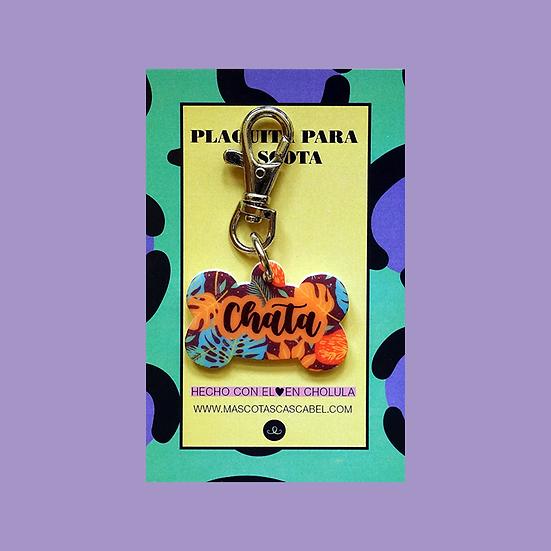 "Plaquita personalizada ""Hueso Jungle"""