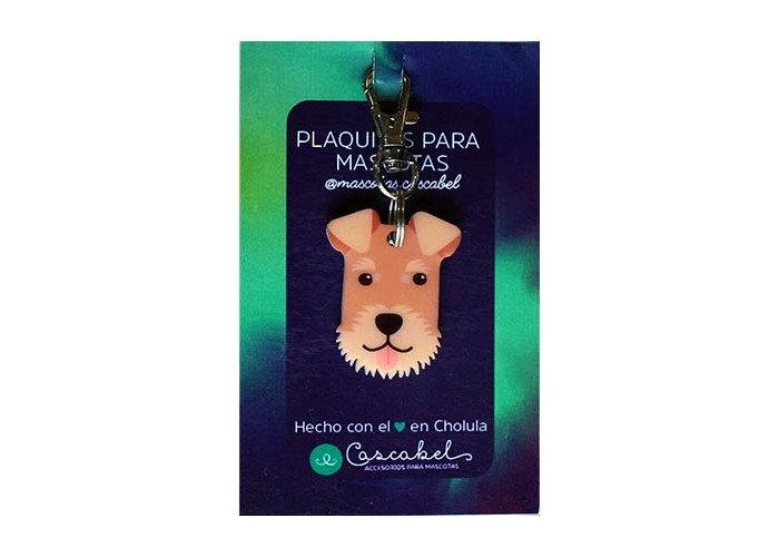 "Plaquita ""Airedale terrier"""