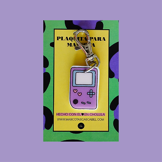 "Plaquita personalizada ""Game Boy"""