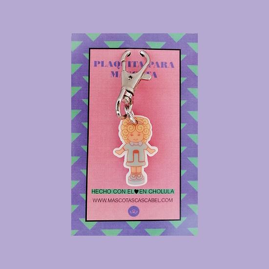"Plaquita personalizada ""Muñeca Juguetes 90's"""