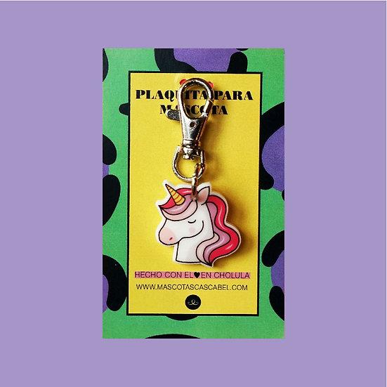 "Plaquita personalizada ""Unicornio"""