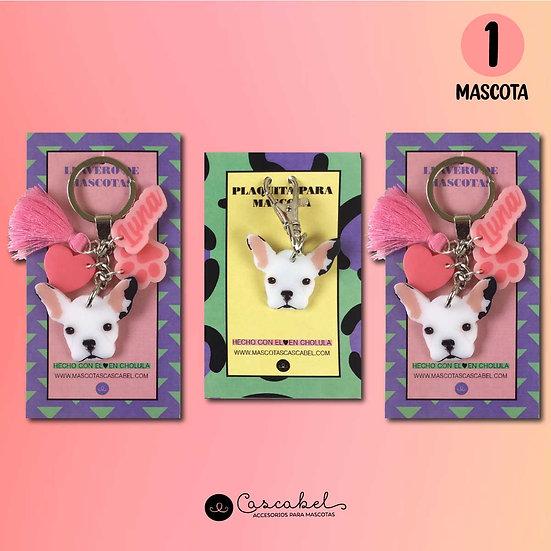 2 Llaveros + 1 Plaquita (1 Mascota)