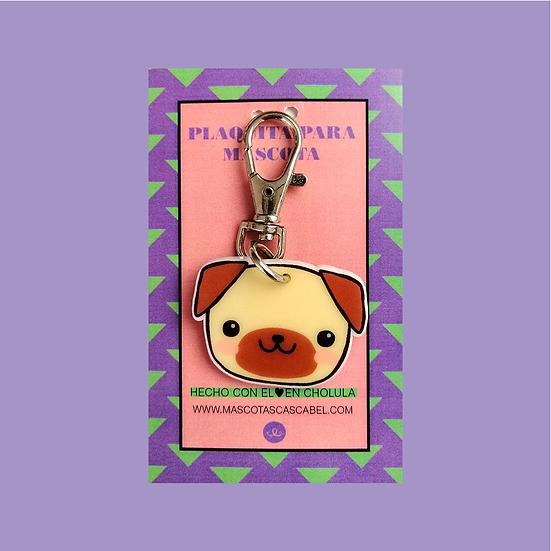 """Plaquita personalizada """"Pug Cute"""""""