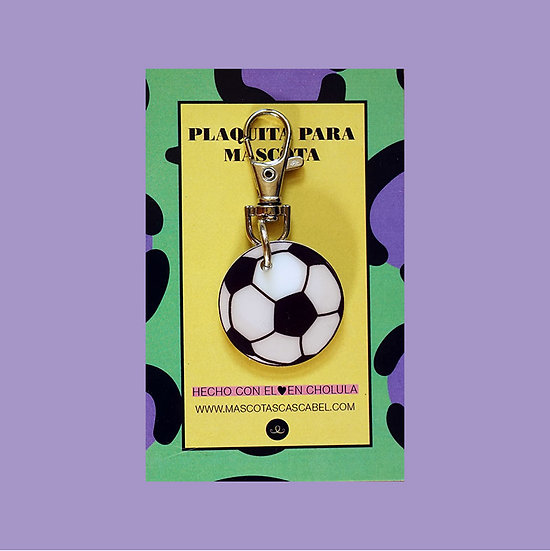 "Plaquita personalizada ""Balón Futbol"""