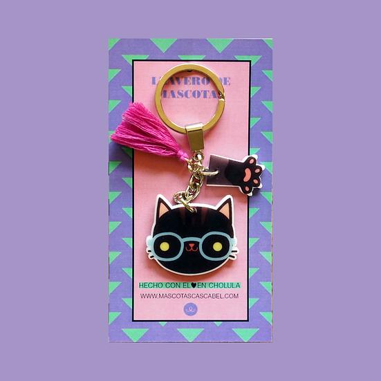 Llavero Cute Gato Negro