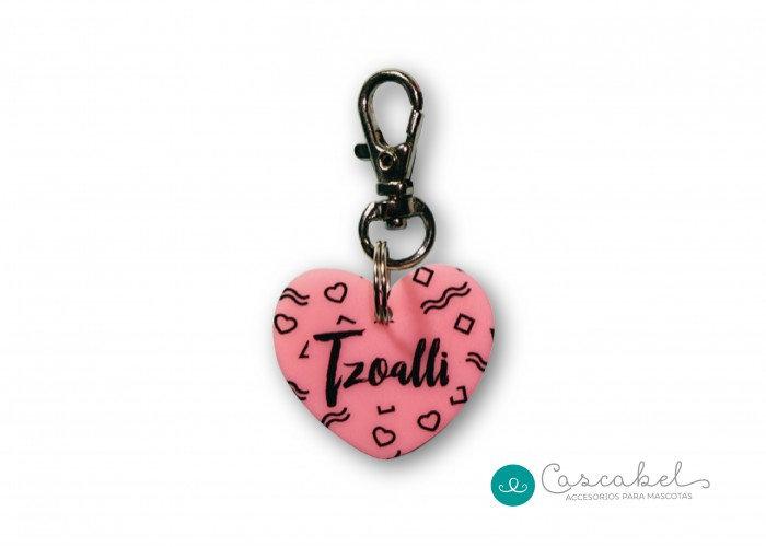 """Plaquita personalizada """"Corazón Rosa"""""""