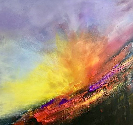 70x100 cm Based in the U.K. abstract acrylic, mixed media £200