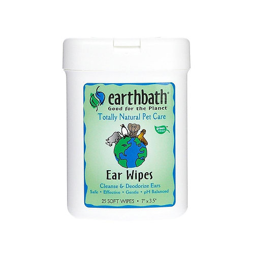 Earthbath Ear Wipes 25 count