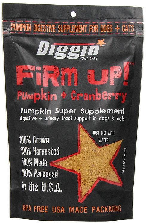 Diggin' Your Dog FIRM UP! Pumpkin & Cranberry Supplement 4 oz