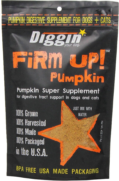 Diggin' Your Dog FIRM UP! Pumpkin Supplement 4 oz