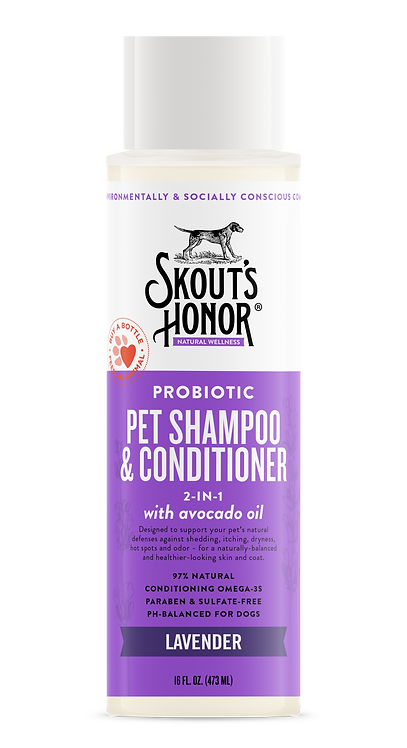 Skout's Honor 2-in-1 Pet Shampoo & Conditioner Lavender 16 fl.oz.