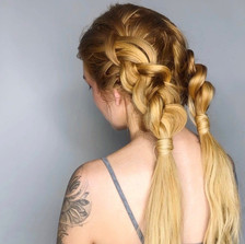 aura salon and spa braids ponytail