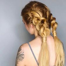 aura salon and spa braids ponytail