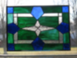 Victorian - Blue Green Victorian Panel.j