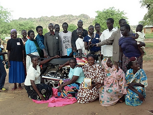 Micro Loans and Transportation, motorbike, by Mercy Partners in North and East Africa