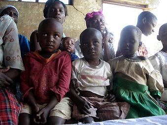 Childern await help in South Sudan, Mercy Partners