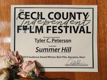 """Summer Hill"" Wins Audience Choice, Narrative Short at Cecil County Film Festival 2019"
