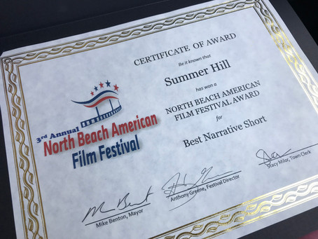 """Summer Hill"" Wins Best Narrative Short at North Beach American Film Festival 2019"